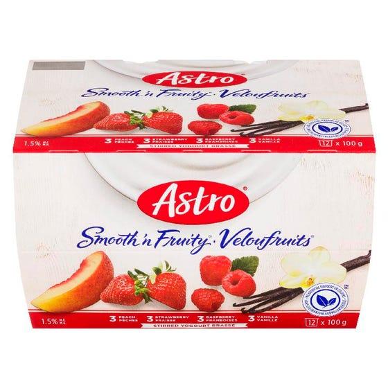 Astro Yogourt Brassé Veloufruits 12X100G