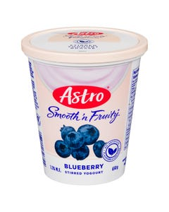 Astro Smooth 'n Fruity Yogurt Blueberry 650g