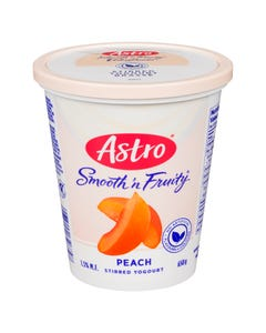 Astro Smooth 'n Fruity Yogurt Peach 650g