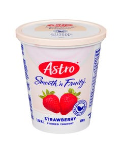 Astro Smooth 'n Fruity Yogurt Strawberry 650g