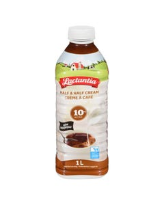 Lactantia Half & Half Cream 10% 1L Bottle