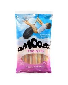 Amooza Twists Mozza-Cheddar 252G