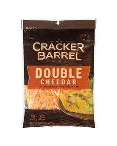Cracker Barrel Shredded Cheese Double Cheddar 320G