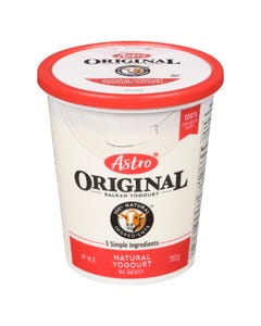 Astro Original Natural Yogurt 750G