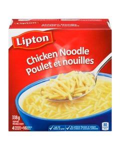 Lipton Mélange à Soupe Poulet et Nouilles 4'S 338G