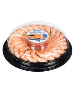 Toppits Jumbo Cooked Shrimp Platter 19-22CT 425G