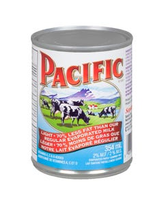 Pacific 2% Evaporated Partly Skimmed Milk 354ML