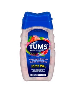 Tums Extra Strength Assorted Berries 750mg 100 count