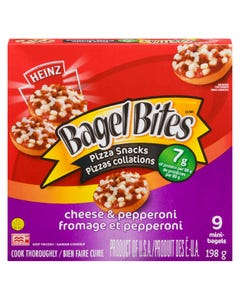 Heinz Bagel Bites Pizza Snacks Cheese & Pepperoni 198G