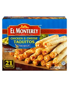 El Monterey Taquitos Chicken & Cheese 21ct 595g