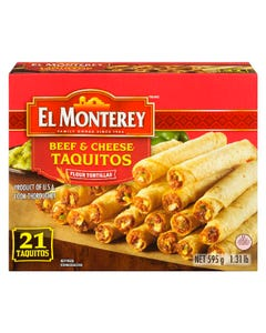 El Monterey Taquitos Beef & Cheese 21ct 595g