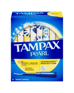 Tampax Pear Regular Unscented 18 Tampons
