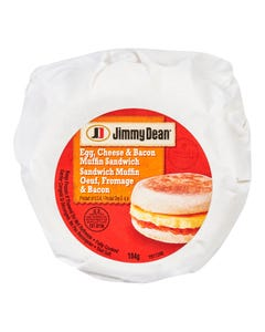 Jimmy Dean Egg, Cheese & Bacon Muffin Sandwich 104G