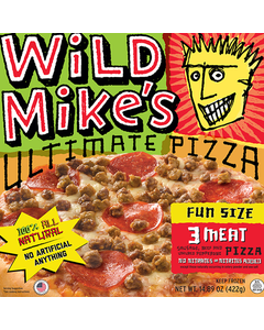 Wild Mike's Fun Size Pizza 3 Meat 422g