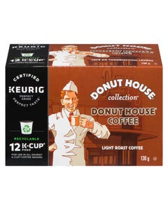 Kcups Donut House Light Roast Coffee 12ct 138g