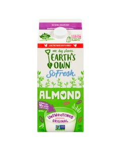 Earth's Own Almond Unsweetened Original 1.89L
