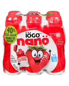 Iogo Nano 1.5% Drinkable Yogurt Strawberry 6X93ml