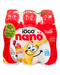 Iogo Nano 1.5% Drinkable Yogurt Banana 6X93ml
