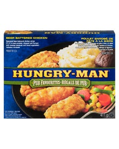 Hungry Man Pub Favourties Beer Battered Chicken 411G
