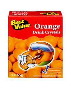 Best Value Drink Crystals Orange 3x65g