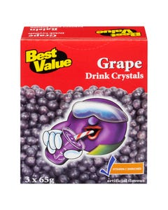 Best Value Drink Crystals Grape 3x65g