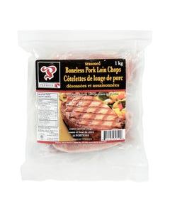 Premier Seasoned Boneless Pork Loin Chops 1KG