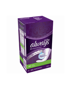 Always Long Unscented 40 Liners