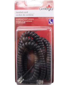 Handset Coiled Cord Black 8M
