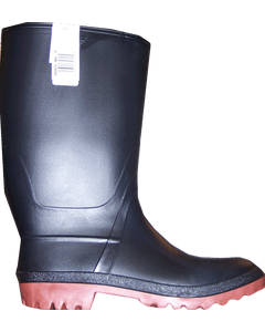 Rubber Boots Red Sole Boys 6 Black
