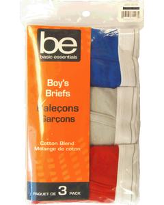Boys Briefs 3-Pack Medium