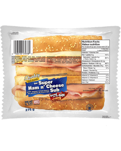 Quality Fast Foods Super Ham n' Cheese Sub 275G