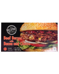 Belmont Meats Beef Burger with Bacon and Cheese 852G