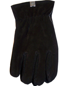 Gloves Pile Lined Winter Large Black