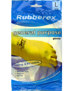 Gloves Rubber Large
