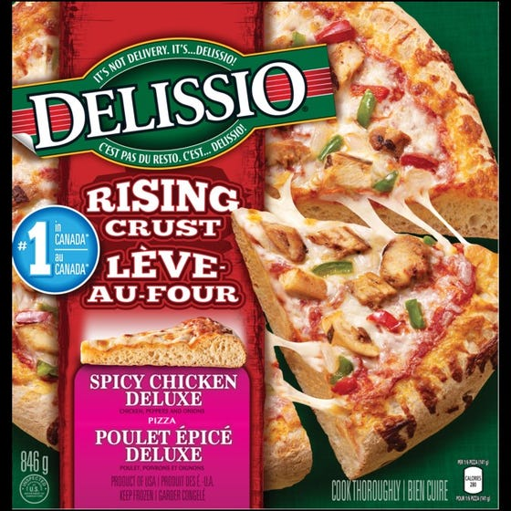 Delissio Rising Crust Spicy Chicken Deluxe 846G