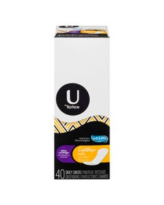 U By Kotex Light Days Extra Coverage 40 Liners