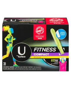 U By Kotex Fitness Compact Regulier 31 Tampons