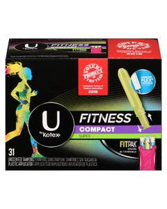 U By Kotex Fitness Super 31 Tampons