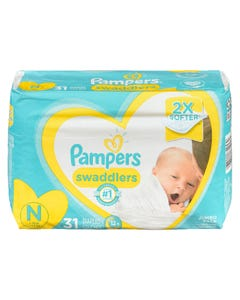 Pampers Swaddlers Jumbo Diaper Size 0 31ct