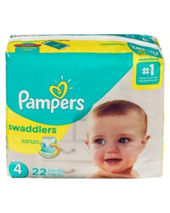 Pampers Swaddlers Couches Taille 4 22'S