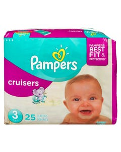 Pampers Cruisers Jumbo Diaper Size 3 25ct