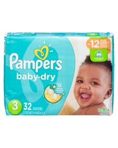 Pampers Baby Dry Jumbo Size 3 32ct