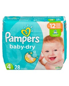 Pampers Baby Dry Jumbo Size 4 28ct