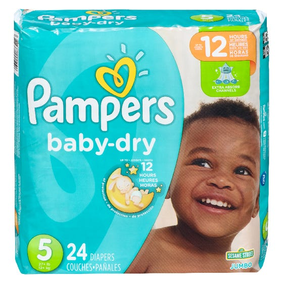 Pampers Baby Dry Jumbo Taille 5 24ct