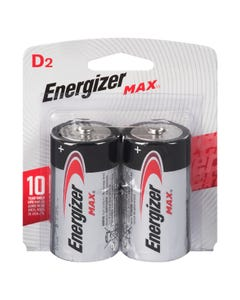 Energizer Batteries Max D 2 pack