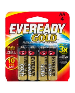 Eveready Batteries Gold AA 4 pack