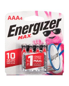 Energizer Batteries Max AAA 4 pack