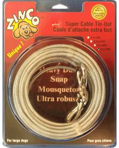 Tie Out Cable 30ft Super Heavy Duty