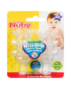 Standard Neck Nuby Nipple 6 pack