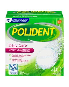 Polident Denture Tablets Daily Care 40ct